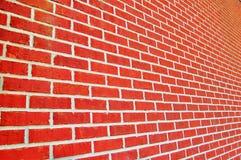 Wall. Closeup of new orange brick wall royalty free stock image