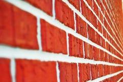 Wall. Closeup of new orange brick wall royalty free stock photos