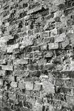 Wall. Brick wall black-and-white foto Stock Photos