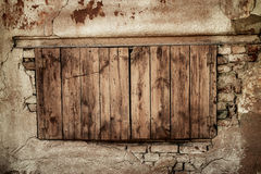 Wall of an abandoned house Royalty Free Stock Photography