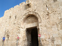 A wall of Abbey Dormitsion on the Mount Zion. Israel, Jerusalem Royalty Free Stock Photo