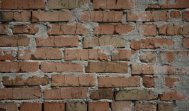 Wall. Abstract background of brown brick Stock Images