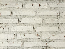 Wall. Abstract paint white brick wall for background. Horizontal architectural background. Vintage brick wall Stock Photography
