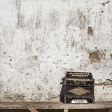 Wall and accordion background Stock Images