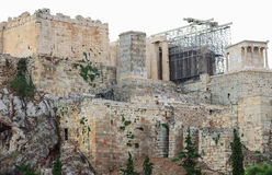 Wall of the Acropolis. In Athens Royalty Free Stock Photography
