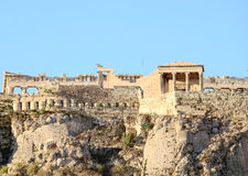 Greek Acropolis. Ancient architectural monument is part of the Acropolis in Athens Royalty Free Stock Photo