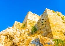 The wall of Acropolis Stock Photos