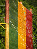 Wall for adventure. Wooden wall for climbing and adventure sport fans Royalty Free Stock Photo
