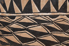 Wall with african tribal painting royalty free stock images