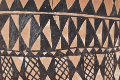 Wall with african tribal painting Royalty Free Stock Photos