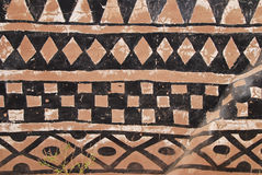 Wall with african tribal painting Royalty Free Stock Photography