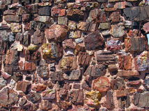 Wall of Agate House - Petrified Forest National Park Stock Photography