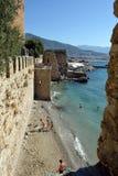 Wall of Alanya Castle Royalty Free Stock Photo