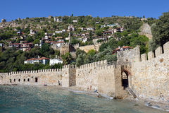 Wall of Alanya Castle Royalty Free Stock Photo