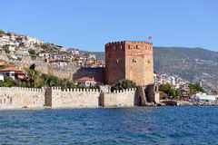 Wall of Alanya Castle Royalty Free Stock Photography