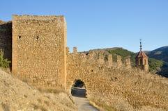 Wall of Albarracin,Teruel, Spain Stock Photos