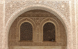Wall of the Alhambra. Details of the wall of the Alhambra in Granada Spain Stock Photography