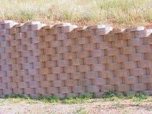 Wall of alternating blocks. In horizontal royalty free stock image