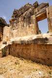 Wall in the amphitheater. Wall in the ancient amphitheater of  in Turkey, Myra Royalty Free Stock Photos