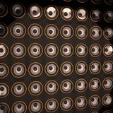 Wall of amps. 3d render, square image Royalty Free Stock Images