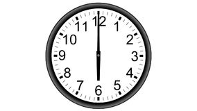 Wall Analog Clock Time Lapse stock footage