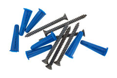 Wall anchors and screws Royalty Free Stock Images
