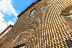 Wall of ancient catholic church (Chiesa Cattolica Suffragio) in Royalty Free Stock Images