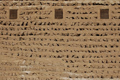 Wall. Ancient clay wall from Dubai royalty free stock images