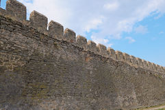 Wall of ancient fortress Stock Photos