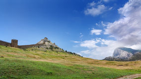 Wall of ancient fortress Royalty Free Stock Images