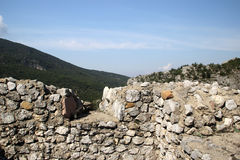 The wall of the ancient fortress Stock Image