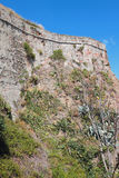 Wall of ancient fortress. Savona, Italy. 02-07-2017 Royalty Free Stock Photo
