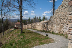 Wall of the Ancient fortress Tsari Mali grad, Sofia Province. Bulgaria Royalty Free Stock Photo