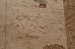 Wall with Ancient hieroglyphs of Egypt, Karnak Temple Stock Image