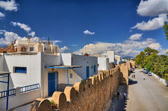 Wall of ancient Medina, Hammamet, Tunisia, Mediterranean Sea, Af Royalty Free Stock Image