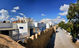Wall of ancient Medina, Hammamet, Tunisia, Mediterranean Sea, Af Stock Photography