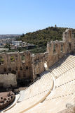 Wall of ancient Odeon of Herodes Atticus Stock Photo