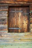 Wall of  ancient wooden barn Stock Images