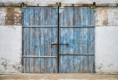 Wall of ancient wooden door Royalty Free Stock Image