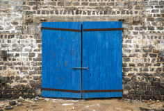 Wall of ancient wooden door Royalty Free Stock Photos