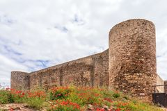 Free Wall And Turrets Of Castro Marim`s Castle`s Inner Keep, Algarve, Portugal. Stock Images - 120860084