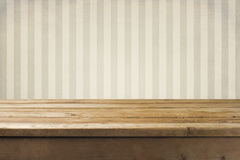 Wall And Wooden Tabletop Royalty Free Stock Image