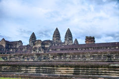 Wall Of Angkor Wat Stock Photos