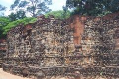 Wall at Angkor Wat in Siem Reap, Cambodia. royalty free stock images