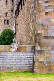 Wall with animals in Cardiff Castle of Cardiff in Wales Stock Photos