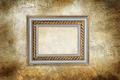 Wall with antique frame Royalty Free Stock Images