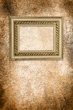 Wall with antique frame Stock Image