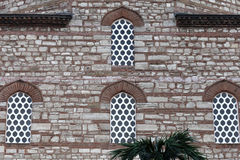 Wall of arabic building. Fragment of brown wall of arabic building, Istanbul, Turkey Stock Photo