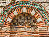 Wall with arch, close-up. Ancient wall with arch found on Nessebar, Bulgaria, close-up Royalty Free Stock Photo