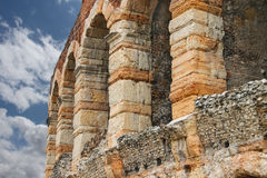Wall and arches of Arena of Verona, Italy Royalty Free Stock Photo